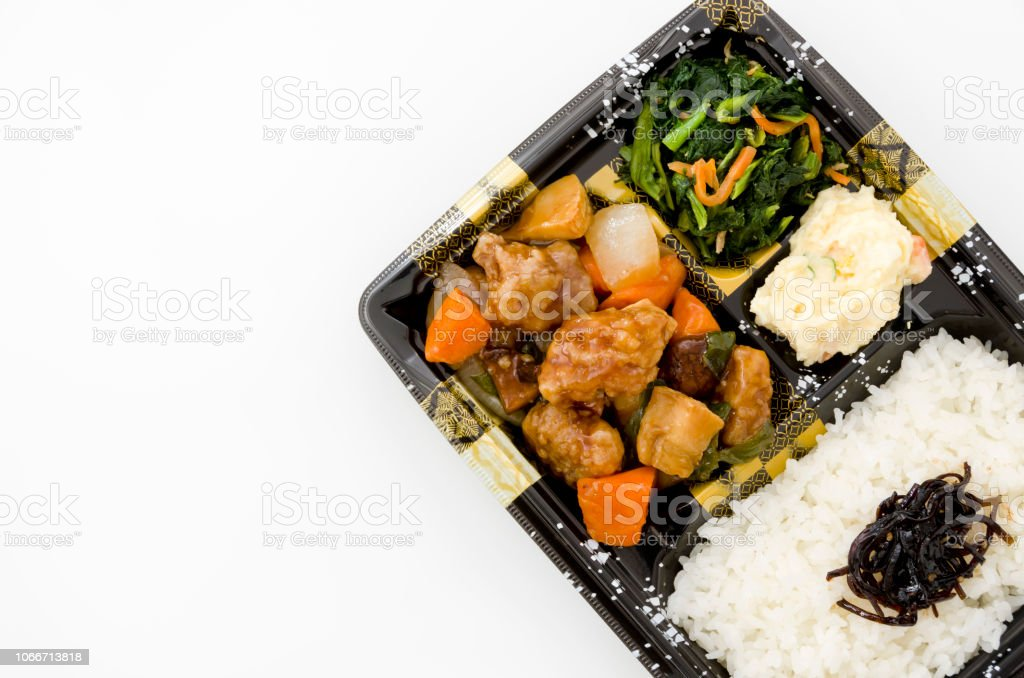 Japanese lunch box, Sweet and sour pork lunch, Subuta bento