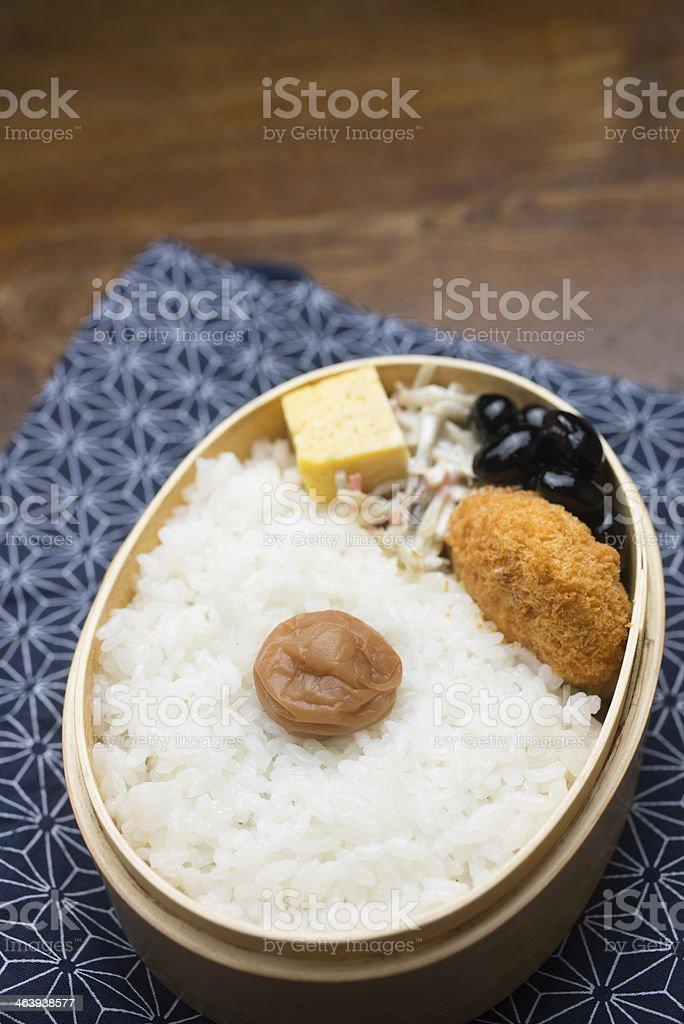 Japanese Lunch Box Hinomaru bento royalty-free stock photo