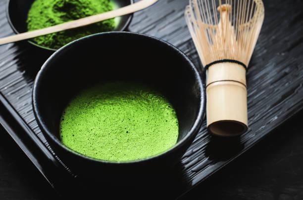 Japanese matcha green tea stock photo