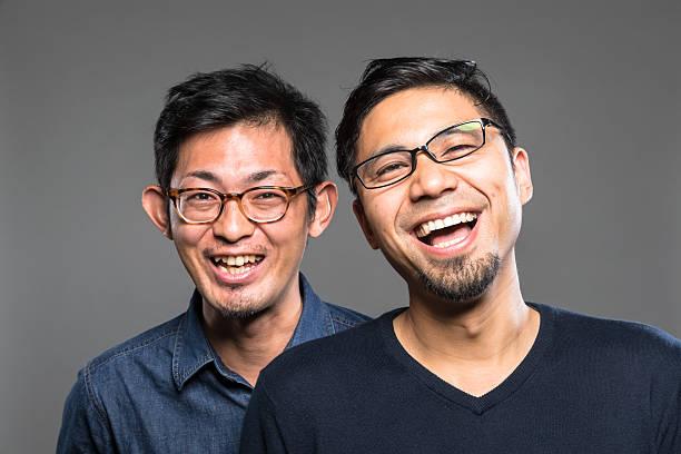 Japanese Men Friendship ストックフォト