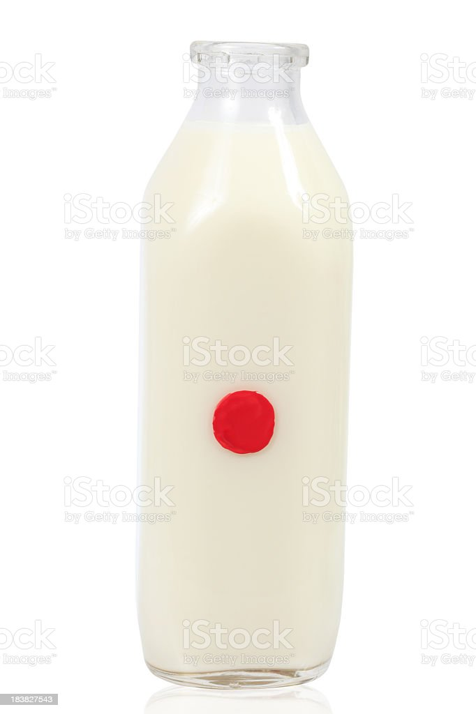Japanese Milk Bottle royalty-free stock photo