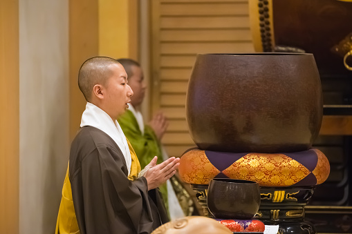 Japanese Monk in a Shichi-go-san Ceremony