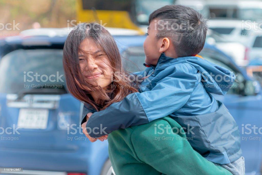 Mere Japonaise Et Son Fils