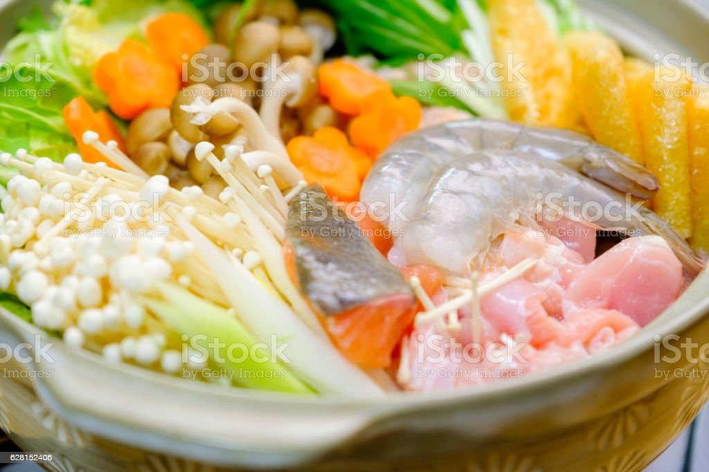 Japanese Nabe Hot Pot royalty-free stock photo