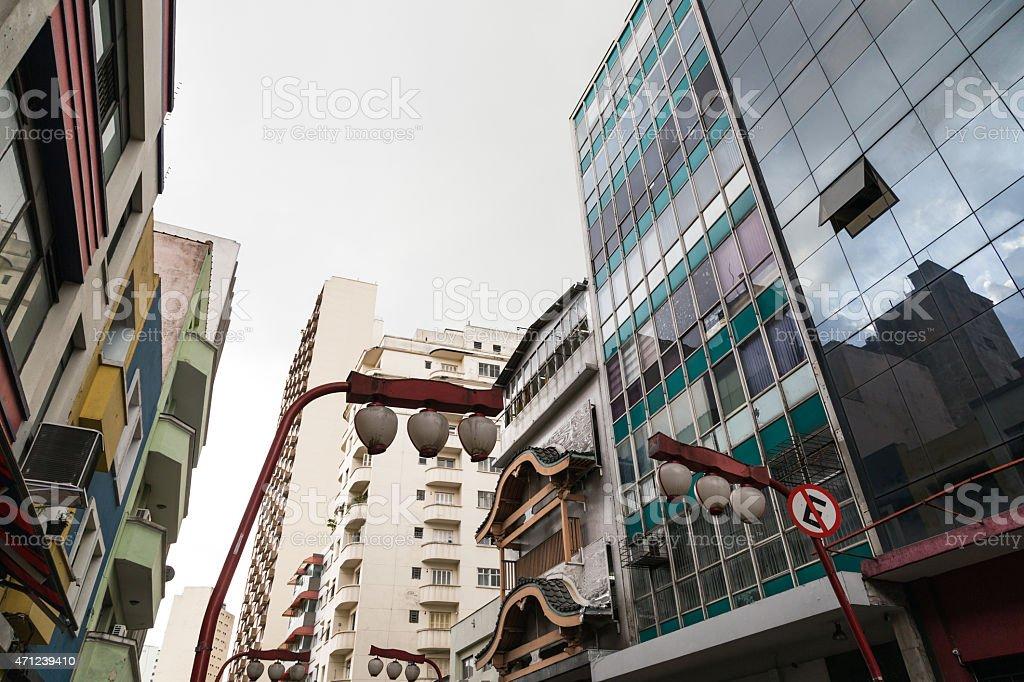 Bairro japonesa no Brasil - foto de acervo