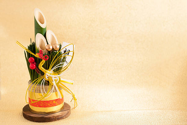 日本の新年のオーナメントと呼ばれる kadomatsu - 門松 ストックフォトと画像
