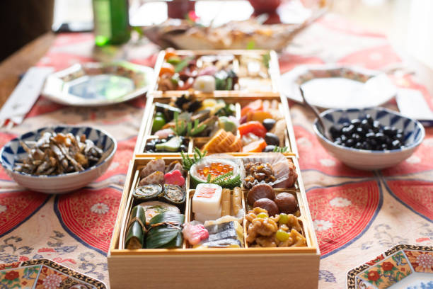 Japanese New Year's Food stock photo