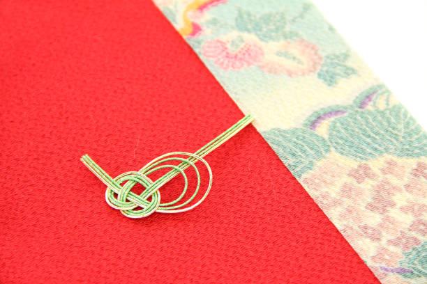 japanese  new year's image  (mizuhiki ) - мидзухики стоковые фото и изображения