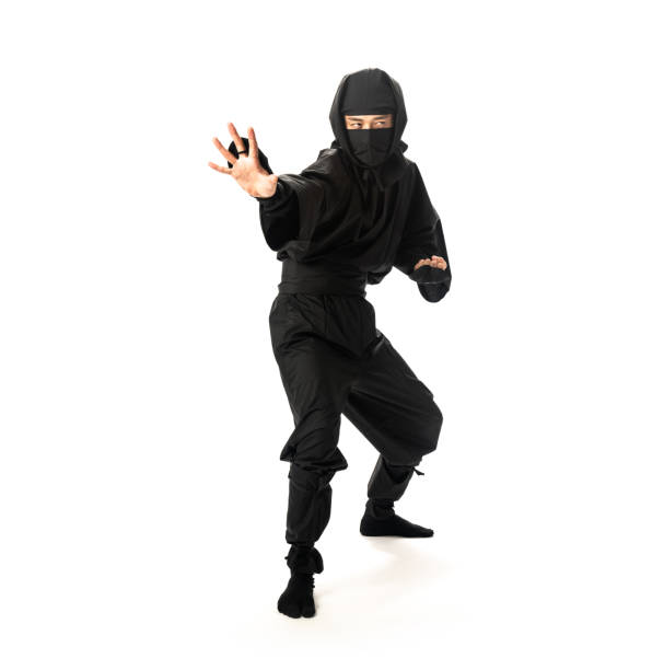 japanese ninja concept. - warrior person stock pictures, royalty-free photos & images
