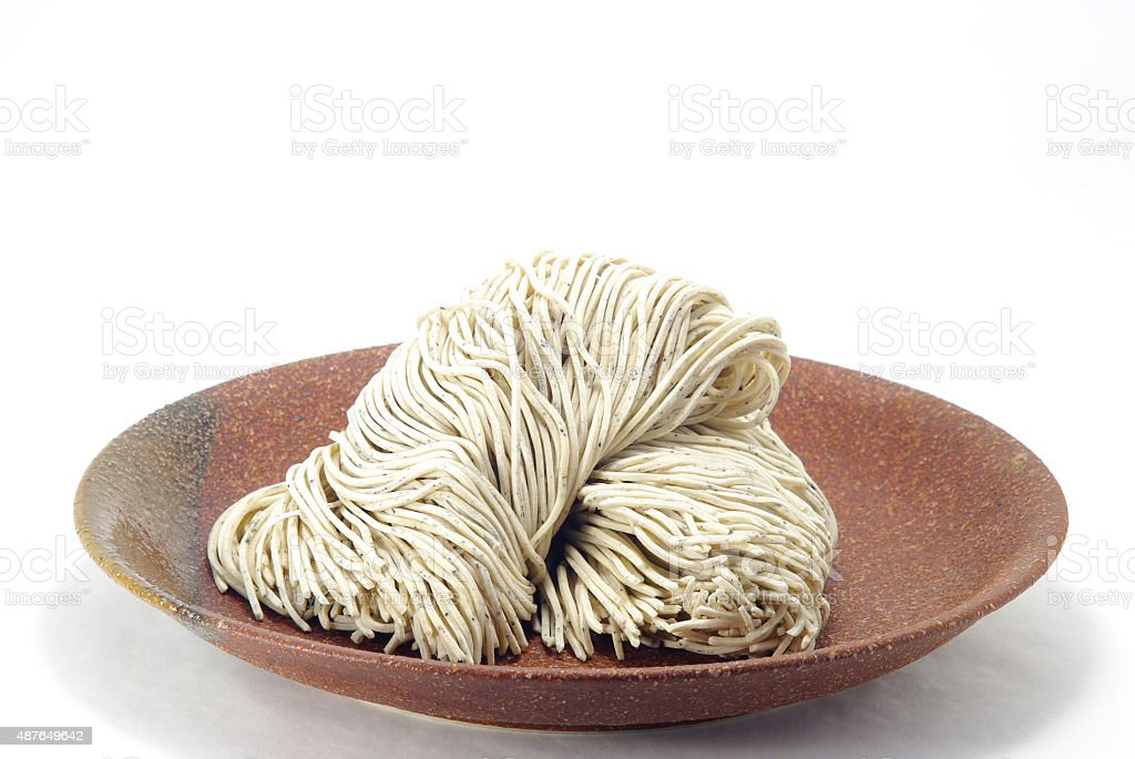 Japanese noodles SOBA stock photo