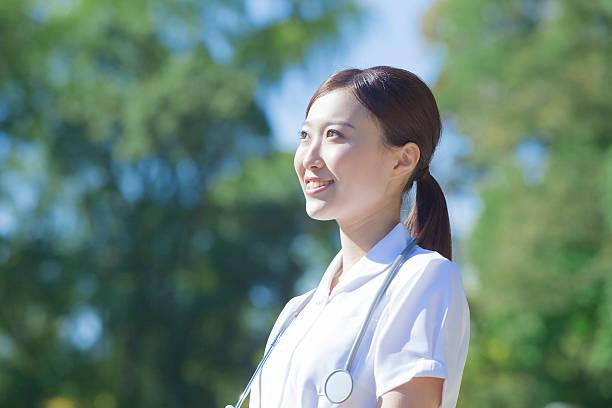 japanese nurse in uniform - 看護師 ストックフォトと画像
