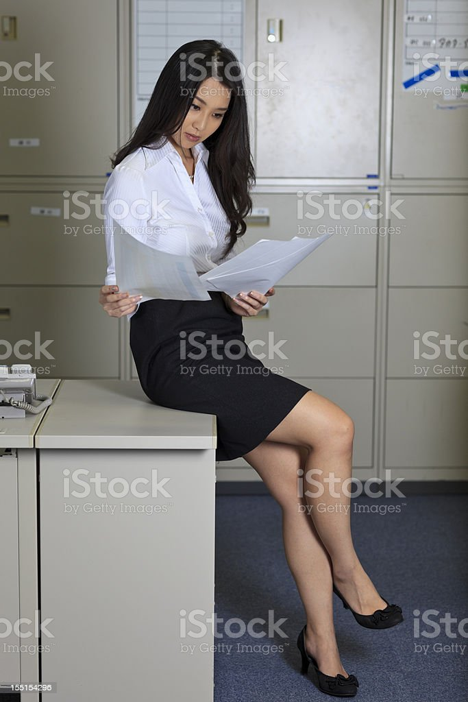 Japanese Office Lady Stock Photo Amp More Pictures Of 20 24