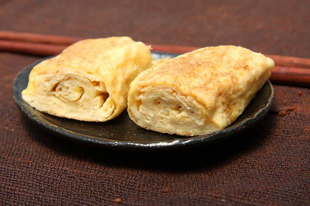Japanese omlet stock photo