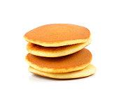 japanese pancakes on white background.Dorayaki