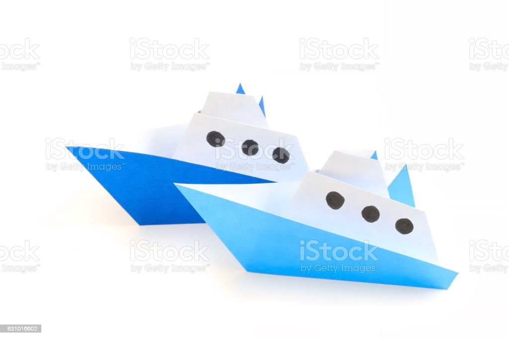 Japanese Paper Craft Boat stock photo