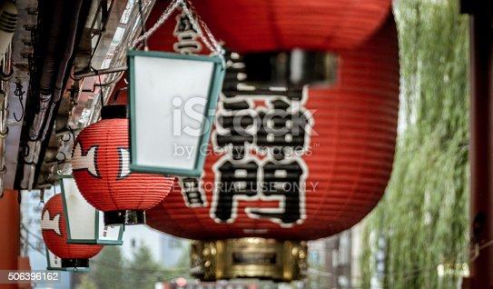 464620985 istock photo Japanese Paper Lanterns at the Famous Sensoji Temple  - Tokyo 506396162