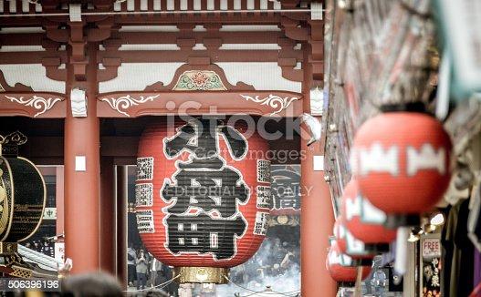 464620985 istock photo Japanese Paper Lanterns at the Famous Sensoji Temple  - Tokyo 506396196