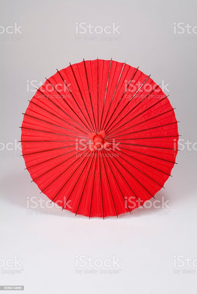 Japanese paper umbrella stock photo