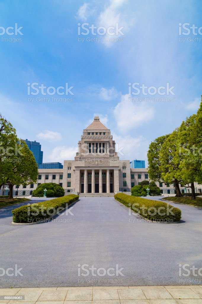 Japanese parliament building stock photo