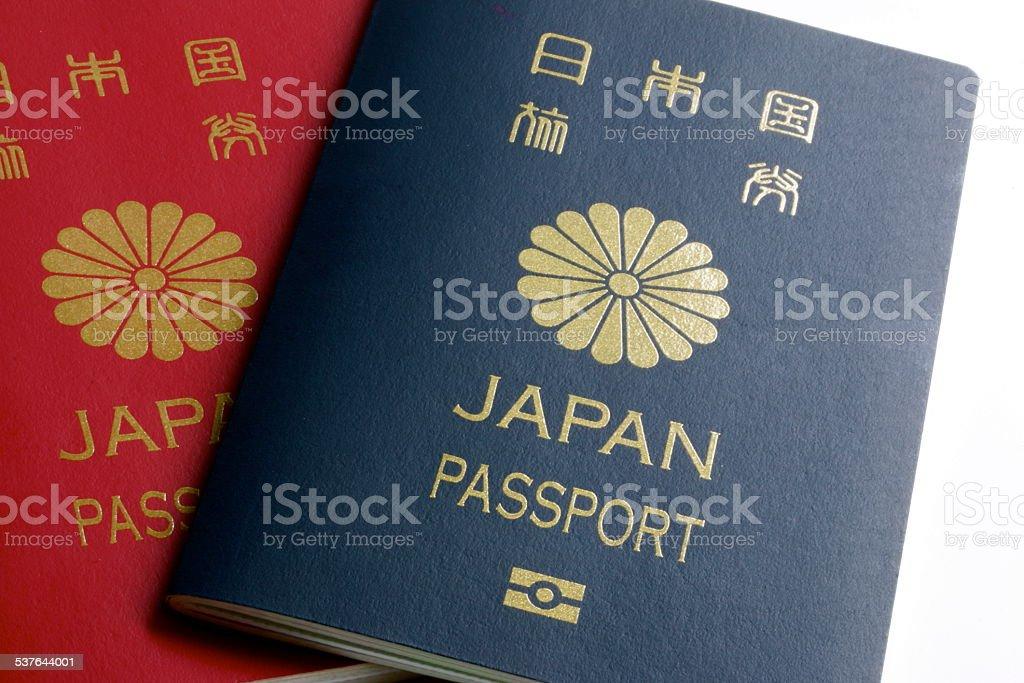 Japanese Passport stock photo
