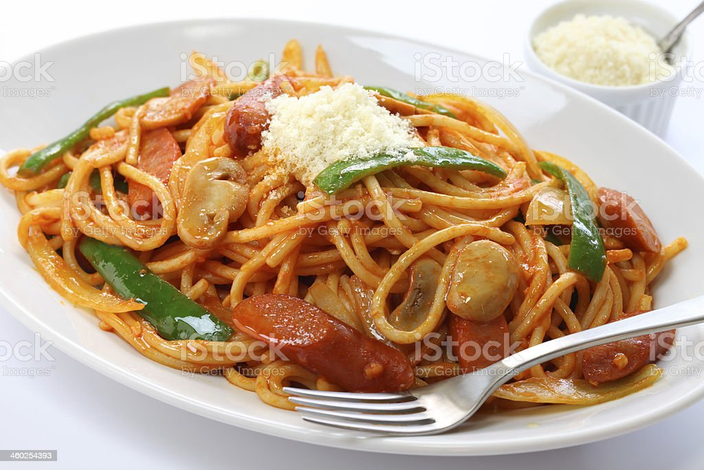 japanese pasta dish stock photo