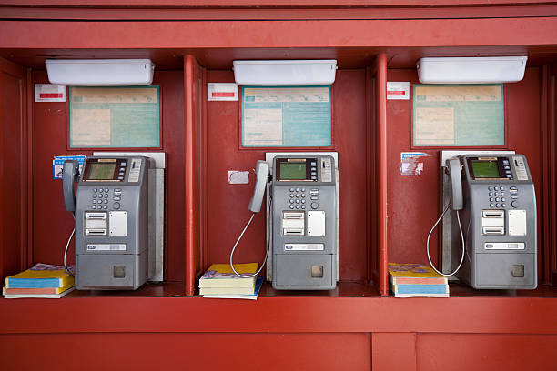 Japanese Pay Phones stock photo