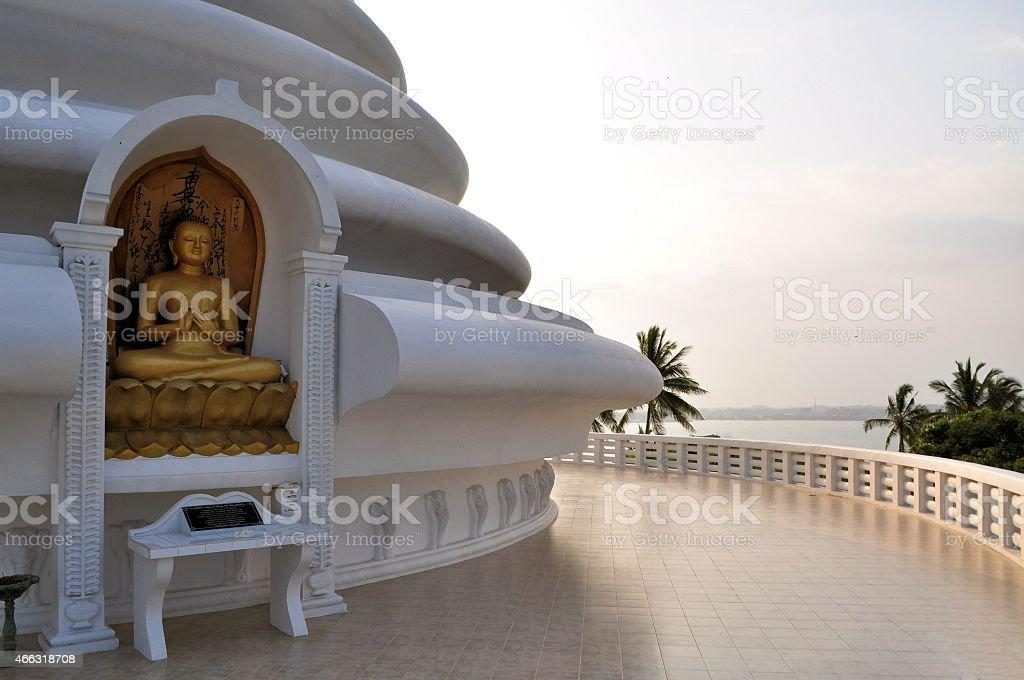 Japonais Pagode de la paix de Rumassala, Galle, Sri Lanka - Photo