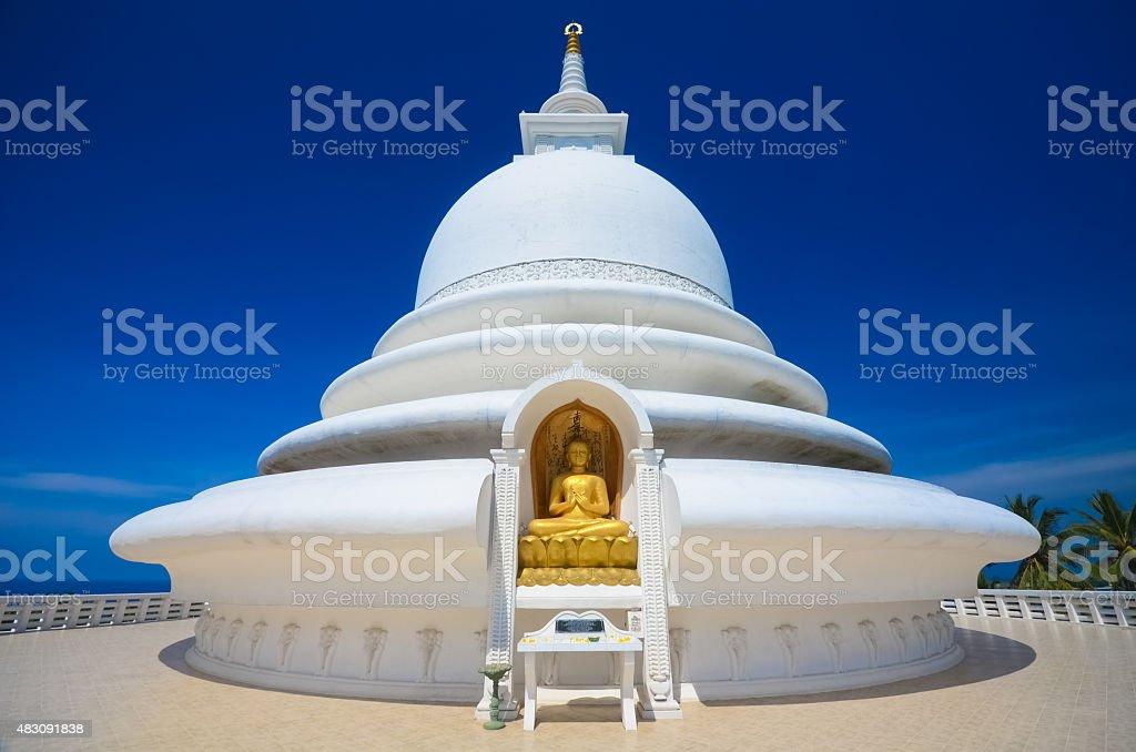 Japonais Pagode de la paix au Rumassala, Sri lanka - Photo