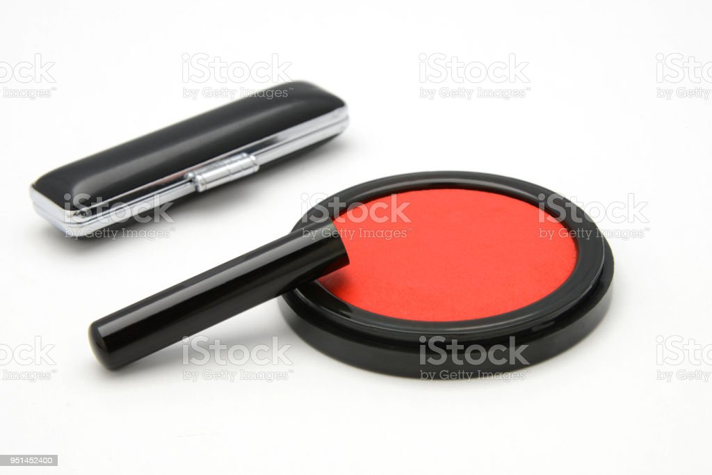 Japanese personal seal stock photo