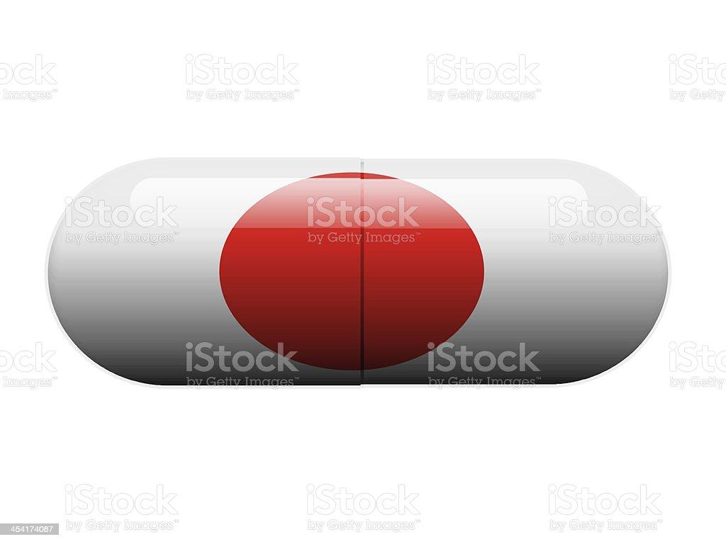 Japanese Pill stock photo
