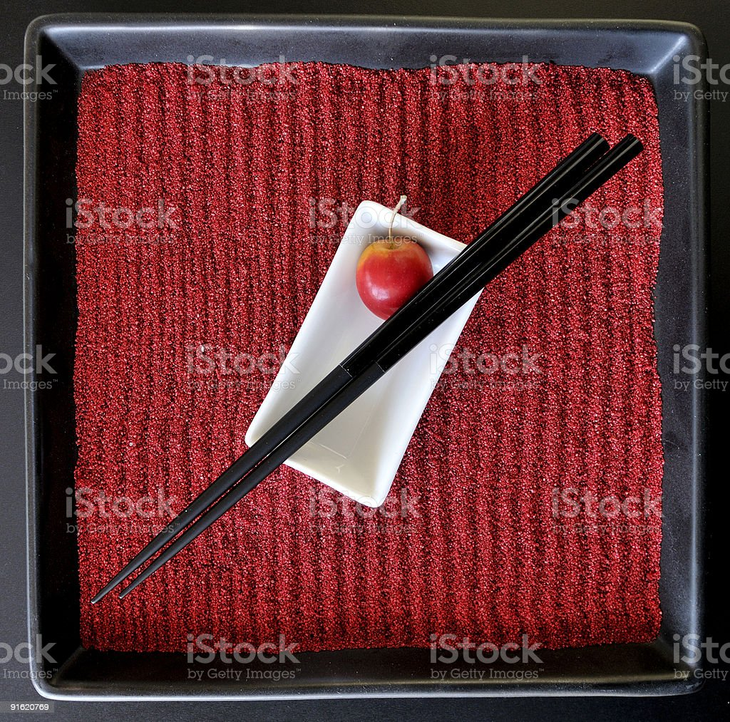 Japanese Plate royalty-free stock photo