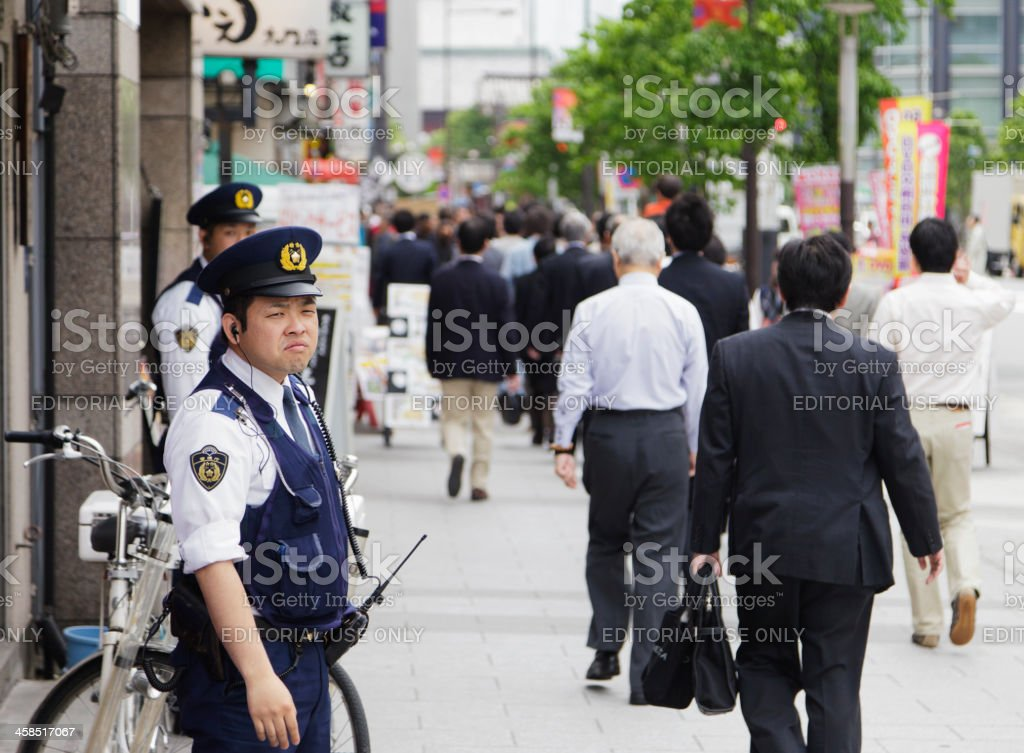 Japanese Police Officers royalty-free stock photo