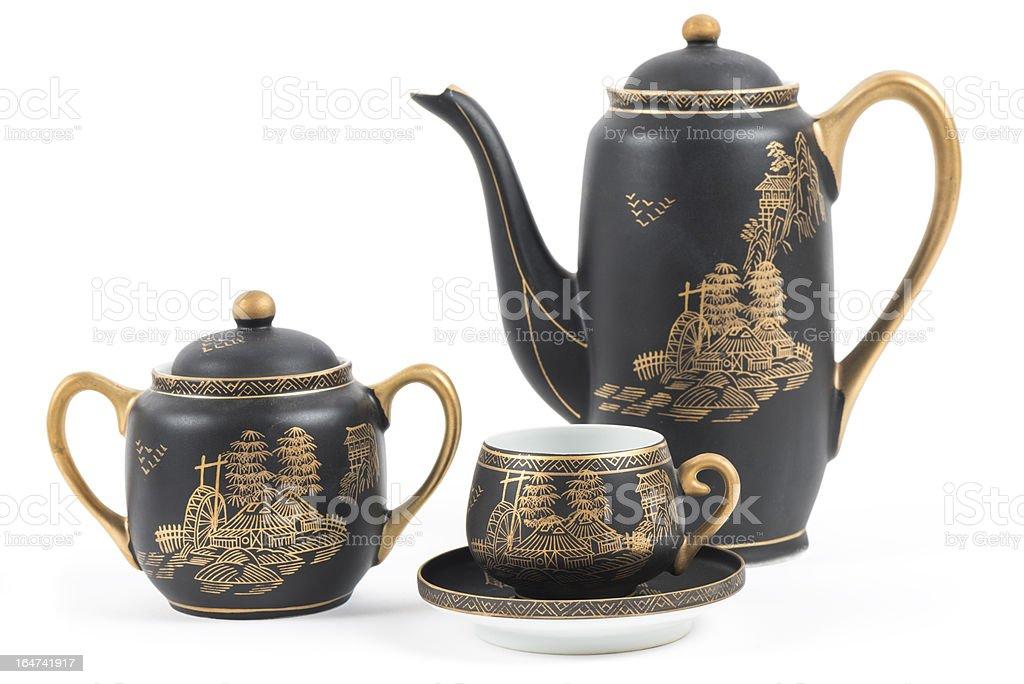 Japanese porcelain royalty-free stock photo