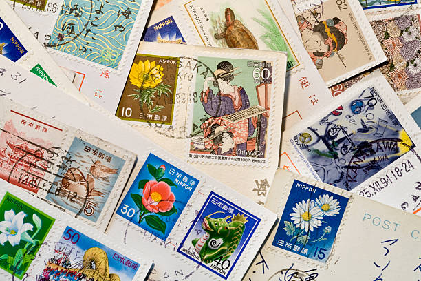 Japanese Postcards stock photo
