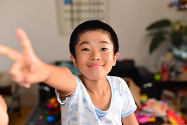 Japonés alumno y principal - foto de stock