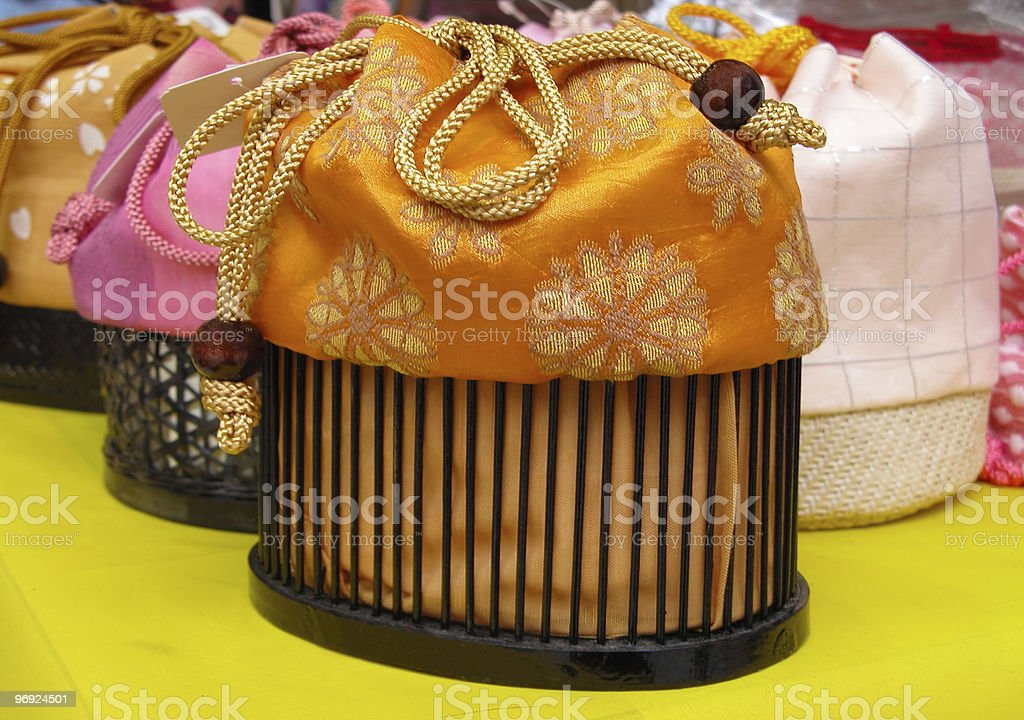 Japanese purse royalty-free stock photo