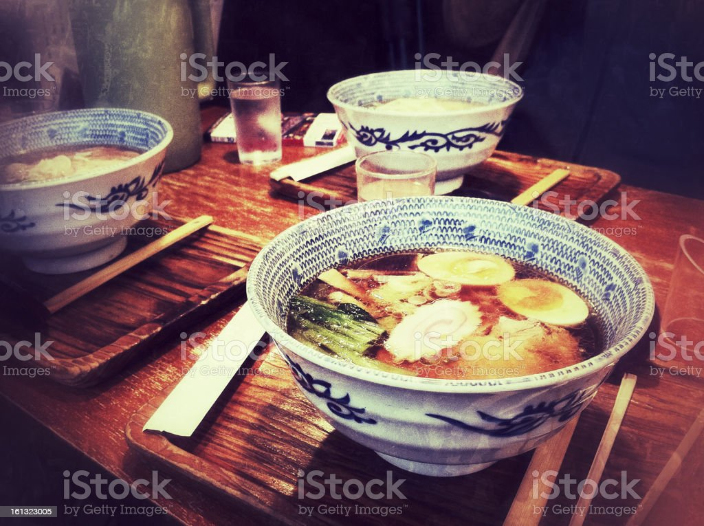 Japanese Ramen Noodles stock photo