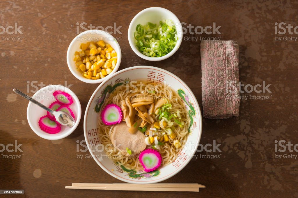 Japanese ramen stock photo
