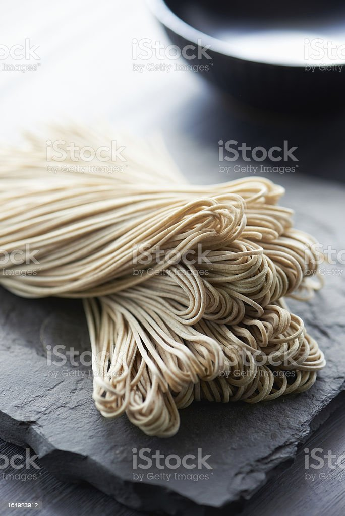 Japanese raw noodle stock photo