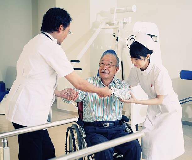 Japanese rehabilitation stock photo