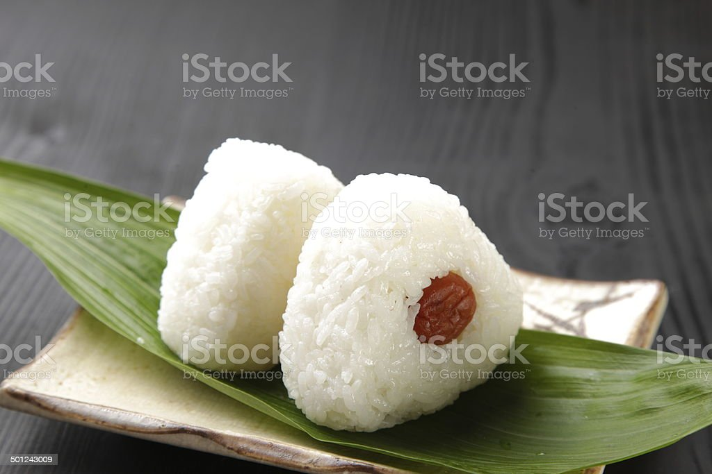 Japanese rice ball 'onigiri' stock photo