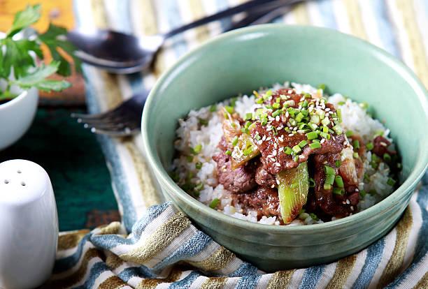 japanese rice bowl dish yakinikudon - 丼物 ストックフォトと画像