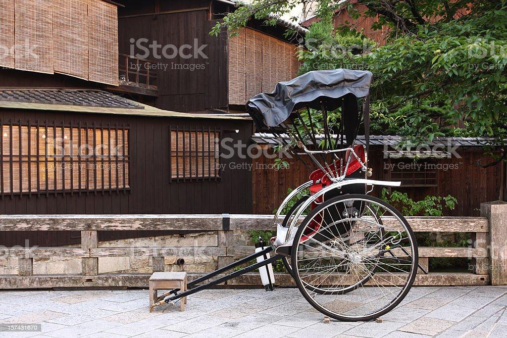 Japanese rickshaw royalty-free stock photo