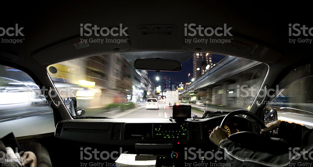 Japanese roadtrip royalty-free stock photo