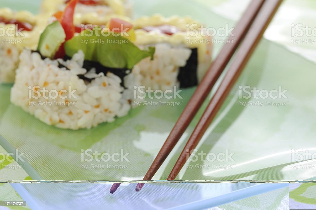 japanese roll sushi royalty-free stock photo