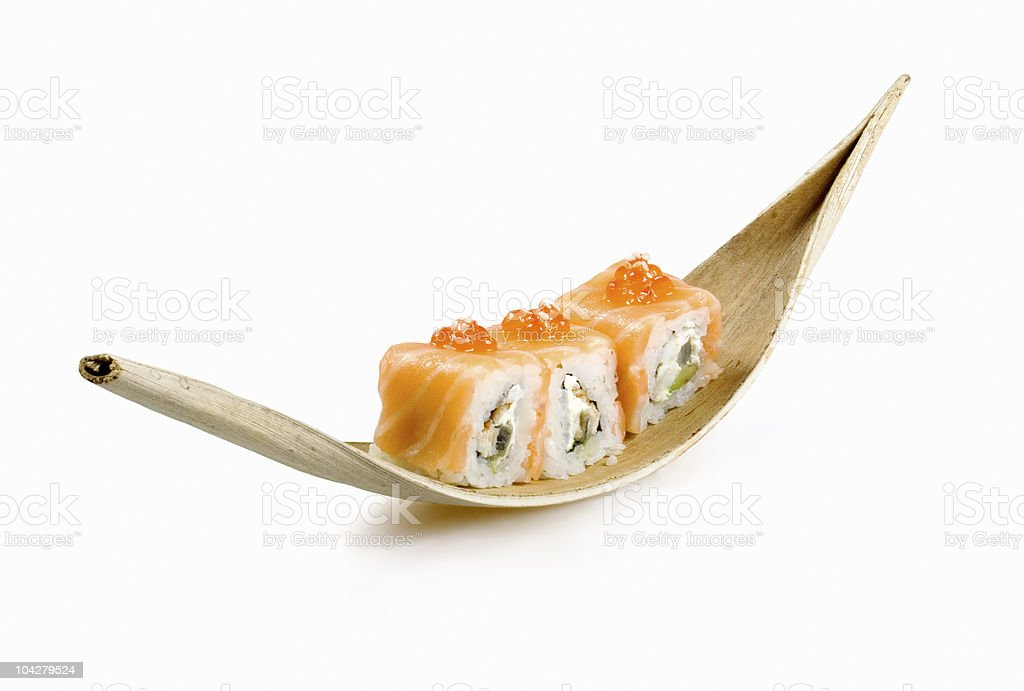 Japanese rolls royalty-free stock photo