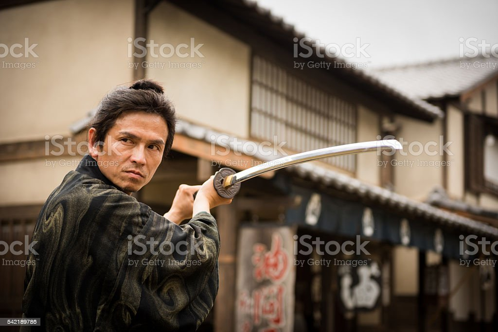 Japanese Ronin stock photo