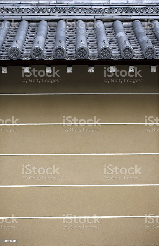 Japanese roof royalty-free stock photo