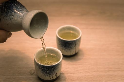 Japanese Sake Stock Photo - Download Image Now - iStock