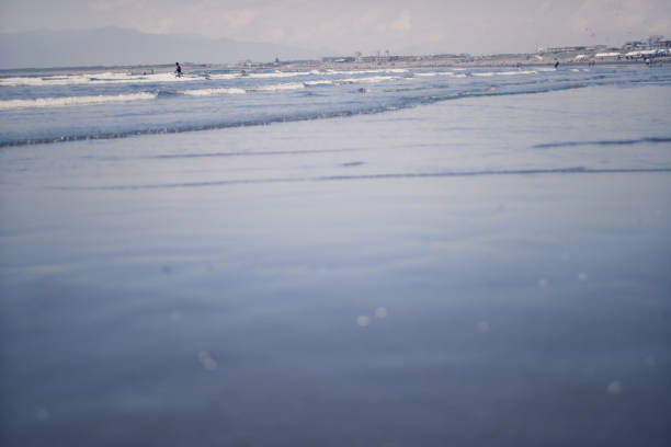 日本の砂浜。 ストックフォト